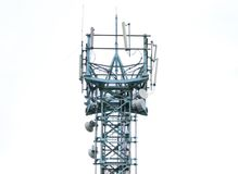 Communications antenna tower Stock Images