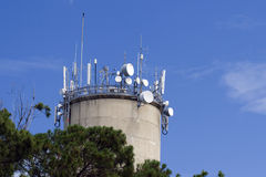 Communications antennas Royalty Free Stock Photos