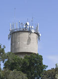 Communications antennas Stock Photo