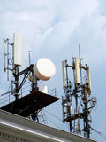 Communications antennas Royalty Free Stock Photography