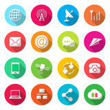 Communications colorful Icons Vector. Illustration Royalty Free Illustration