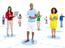 Communications Community Global Internet Concept Stock Photography