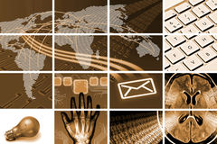 Communications composition Stock Images