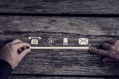 Free Communications Concept With Icons Stock Image - 104975201
