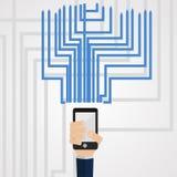 Communications de téléphone Image stock
