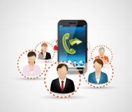 Communications 2 de téléphone portable Image stock
