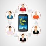 Communications 1 de téléphone portable Images libres de droits