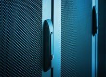 Communications equipment close up door handle Royalty Free Stock Image