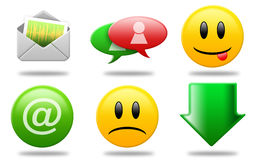 Communications icons 02 Royalty Free Stock Image