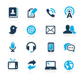 Communications Icons // Azure Series Royalty Free Stock Photos