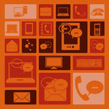 Communications icons Royalty Free Stock Photos
