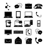 Communications icons Stock Image