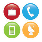 Communications. Icons over white background vector illustration Royalty Free Stock Image