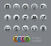 Communications Icons Pearly Series Royalty Free Stock Images