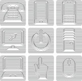 Communications icons set Stock Images