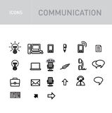 Communications icons set isolated on white Royalty Free Stock Photo
