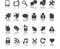 Communications icons. A set of communications and system and other IT icons Royalty Free Stock Image
