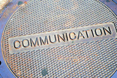 Communications Manhole. Street cover for communications manhole Stock Image