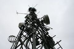 Communications mast. From below Stock Images