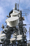 Communications Mast. Communications array Stock Photos