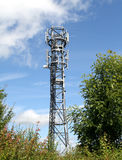 Communications Mast against a Blue Sky Royalty Free Stock Photos