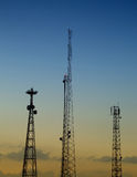 Communications masts 02 Stock Photo