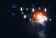 Communications Network Business Background Stock Photo
