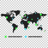 Communications network world map. Vector illustration on isolate royalty free illustration