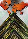 Communications numériques - l'électronique Photographie stock