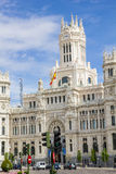 Communications Palace from Plaza de Cibeles, Madrid, Spain. Stock Photos