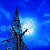 Communications pylon against a blue sky Stock Images