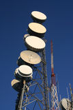 Communications radio tower Stock Image