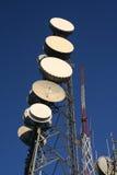 Communications radio tower stock image
