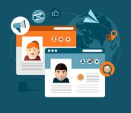 Communications and social media illustration Royalty Free Stock Photos