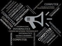 COMMUNICATIONS TECHNOLOGY - image with words associated with the topic COMMUNICATION TECHNOLOGY, word, image, illustration Stock Photography