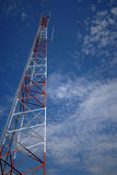 Communications Tower 1. Communications tower from below Royalty Free Stock Photography