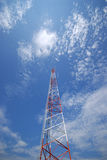 Communications Tower 2. Communications tower from below Royalty Free Stock Images
