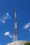 Communications tower. Royalty Free Stock Photo