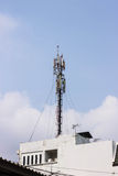 Communications Tower. On the building Stock Photos