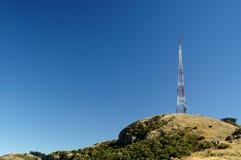 Communications Tower. On hill ridge royalty free stock photo