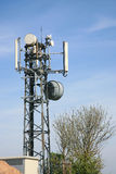 Communications tower and antenna Royalty Free Stock Photos