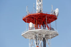 Communications tower antenna Royalty Free Stock Images