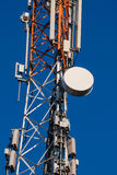 Communications tower with antennas Stock Photos