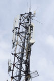 Communications tower with antennas Royalty Free Stock Photography