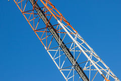 Communications tower  on blue sky Royalty Free Stock Images