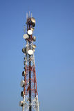Communications tower and blue sky, Thailand. Stock Image