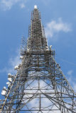 Communications Tower and blue sky Stock Images