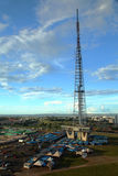 Communications tower in Brasilia stock photos