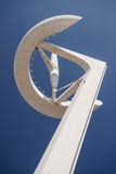 The Communications Tower by Calatrava in Barcelona - 04/13/2014 Royalty Free Stock Image