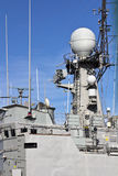 Communications Tower Modern Warship Royalty Free Stock Photo